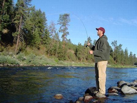 Fly fishing on the Spokane River
